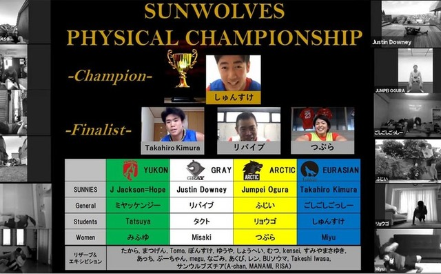 『SUNWOLVES PHYSICAL CHAMPIONSHIP』結果発表!