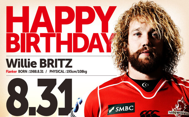 Willem BRITZ's BIRTHDAY!!